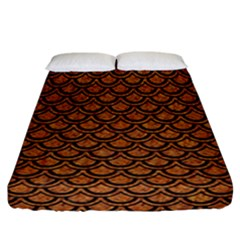 SCALES2 BLACK MARBLE & RUSTED METAL Fitted Sheet (California King Size)