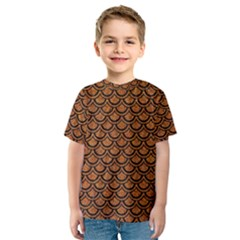 SCALES2 BLACK MARBLE & RUSTED METAL Kids  Sport Mesh Tee
