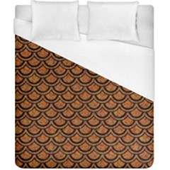 SCALES2 BLACK MARBLE & RUSTED METAL Duvet Cover (California King Size)