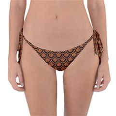 SCALES2 BLACK MARBLE & RUSTED METAL Reversible Bikini Bottom