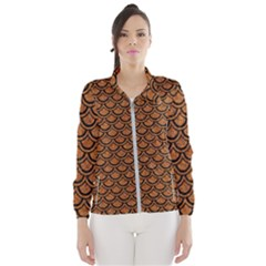 SCALES2 BLACK MARBLE & RUSTED METAL Wind Breaker (Women)