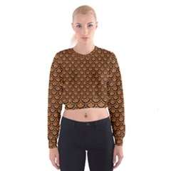 SCALES2 BLACK MARBLE & RUSTED METAL Cropped Sweatshirt