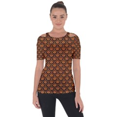 SCALES2 BLACK MARBLE & RUSTED METAL Short Sleeve Top