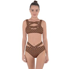 SCALES2 BLACK MARBLE & RUSTED METAL Bandaged Up Bikini Set