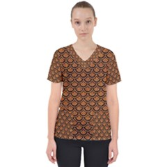 SCALES2 BLACK MARBLE & RUSTED METAL Scrub Top