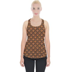 SCALES2 BLACK MARBLE & RUSTED METAL Piece Up Tank Top