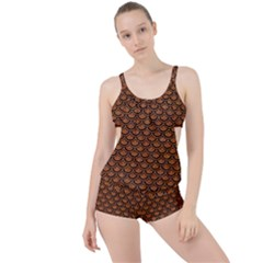 SCALES2 BLACK MARBLE & RUSTED METAL Boyleg Tankini Set
