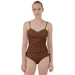 SCALES2 BLACK MARBLE & RUSTED METAL Sweetheart Tankini Set