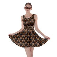 SCALES2 BLACK MARBLE & RUSTED METAL (R) Skater Dress