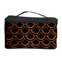 SCALES2 BLACK MARBLE & RUSTED METAL (R) Cosmetic Storage Case