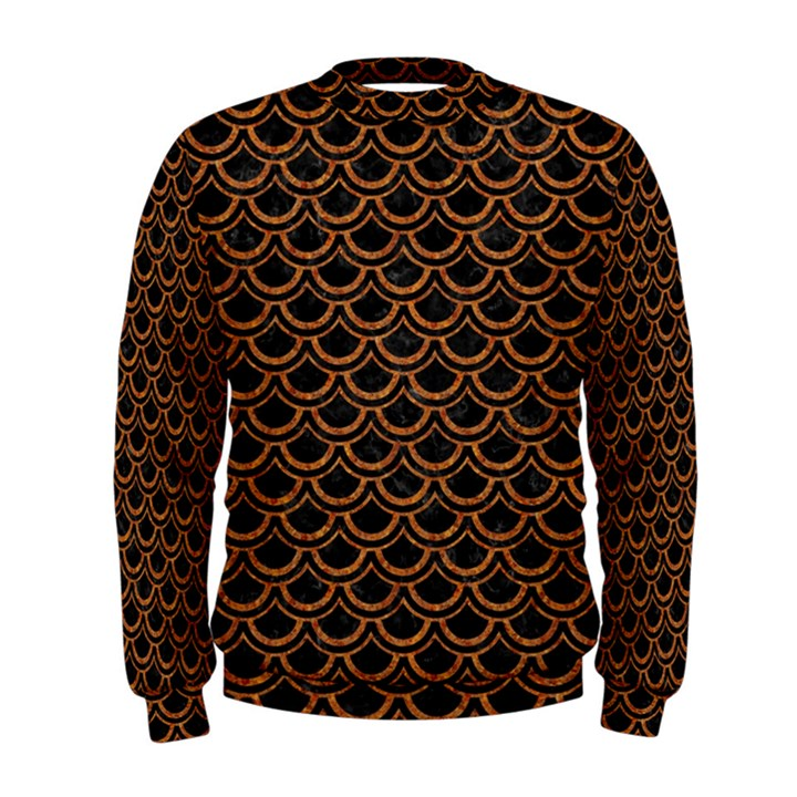 SCALES2 BLACK MARBLE & RUSTED METAL (R) Men s Sweatshirt