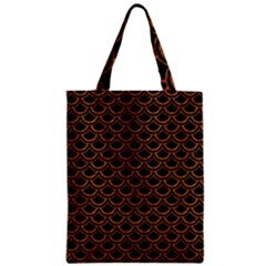 SCALES2 BLACK MARBLE & RUSTED METAL (R) Zipper Classic Tote Bag