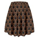 SCALES2 BLACK MARBLE & RUSTED METAL (R) High Waist Skirt View2