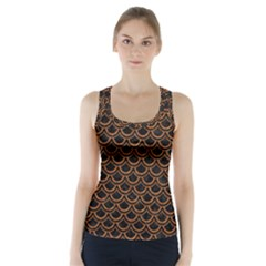 SCALES2 BLACK MARBLE & RUSTED METAL (R) Racer Back Sports Top