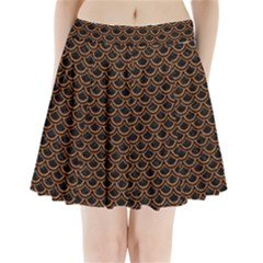 Scales2 Black Marble & Rusted Metal (r) Pleated Mini Skirt