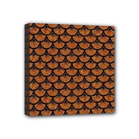 Scales3 Black Marble & Rusted Metal Mini Canvas 4  X 4  by trendistuff