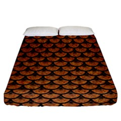 SCALES3 BLACK MARBLE & RUSTED METAL Fitted Sheet (California King Size)