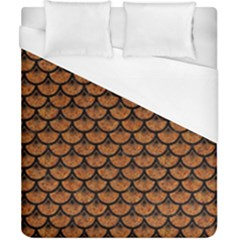 SCALES3 BLACK MARBLE & RUSTED METAL Duvet Cover (California King Size)