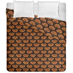 SCALES3 BLACK MARBLE & RUSTED METAL Duvet Cover Double Side (California King Size)