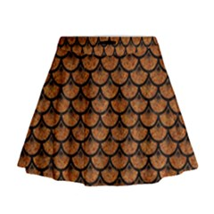 SCALES3 BLACK MARBLE & RUSTED METAL Mini Flare Skirt