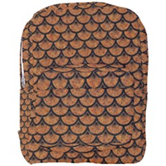 Scales3 Black Marble & Rusted Metal Full Print Backpack by trendistuff