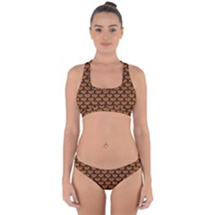 SCALES3 BLACK MARBLE & RUSTED METAL Cross Back Hipster Bikini Set