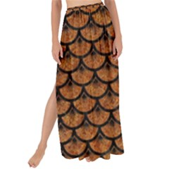 SCALES3 BLACK MARBLE & RUSTED METAL Maxi Chiffon Tie-Up Sarong