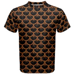 SCALES3 BLACK MARBLE & RUSTED METAL (R) Men s Cotton Tee