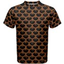 SCALES3 BLACK MARBLE & RUSTED METAL (R) Men s Cotton Tee View1