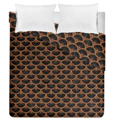 SCALES3 BLACK MARBLE & RUSTED METAL (R) Duvet Cover Double Side (Queen Size)