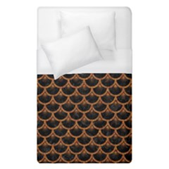 SCALES3 BLACK MARBLE & RUSTED METAL (R) Duvet Cover (Single Size)