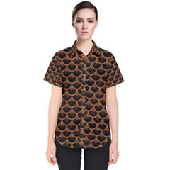 SCALES3 BLACK MARBLE & RUSTED METAL (R) Women s Short Sleeve Shirt