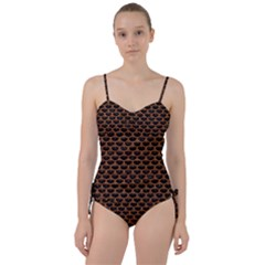 Scales3 Black Marble & Rusted Metal (r) Sweetheart Tankini Set by trendistuff