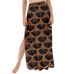Scales3 Black Marble & Rusted Metal (r) Maxi Chiffon Tie Up Sarong by trendistuff