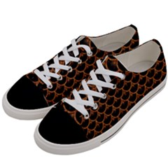 SCALES3 BLACK MARBLE & RUSTED METAL (R) Women s Low Top Canvas Sneakers