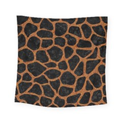 Skin1 Black Marble & Rusted Metal Square Tapestry (small) by trendistuff