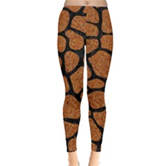 Skin1 Black Marble & Rusted Metal (r) Leggings  by trendistuff
