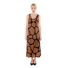 Skin1 Black Marble & Rusted Metal (r) Sleeveless Maxi Dress by trendistuff