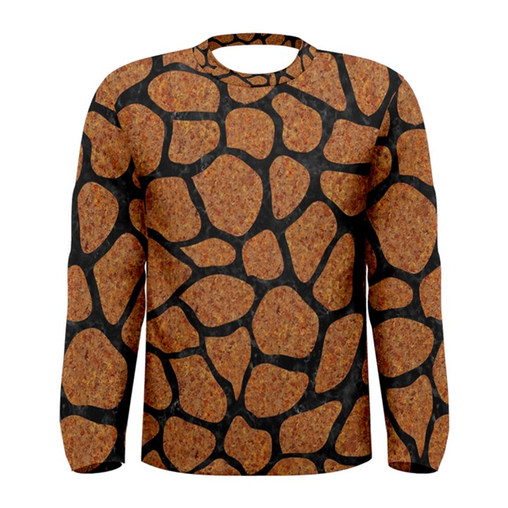 SKIN1 BLACK MARBLE & RUSTED METAL (R) Men s Long Sleeve Tee