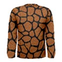SKIN1 BLACK MARBLE & RUSTED METAL (R) Men s Long Sleeve Tee View2