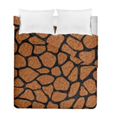 Skin1 Black Marble & Rusted Metal (r) Duvet Cover Double Side (full/ Double Size)