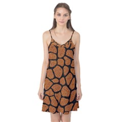 Skin1 Black Marble & Rusted Metal (r) Camis Nightgown