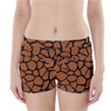 SKIN1 BLACK MARBLE & RUSTED METAL (R) Boyleg Bikini Wrap Bottoms View1