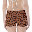 SKIN1 BLACK MARBLE & RUSTED METAL (R) Boyleg Bikini Wrap Bottoms View2