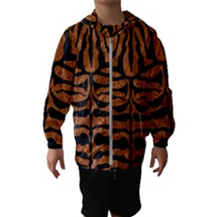 Skin2 Black Marble & Rusted Metal Hooded Wind Breaker (kids) by trendistuff