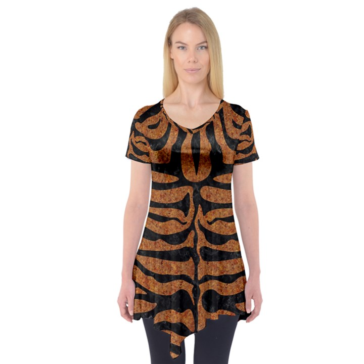 SKIN2 BLACK MARBLE & RUSTED METAL Short Sleeve Tunic