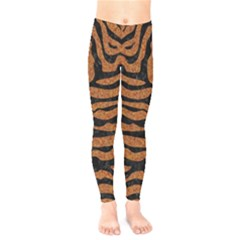Skin2 Black Marble & Rusted Metal Kids  Legging by trendistuff