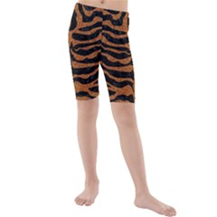 Skin2 Black Marble & Rusted Metal (r) Kids  Mid Length Swim Shorts by trendistuff