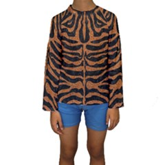 Skin2 Black Marble & Rusted Metal (r) Kids  Long Sleeve Swimwear by trendistuff