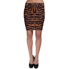 Skin2 Black Marble & Rusted Metal (r) Bodycon Skirt by trendistuff